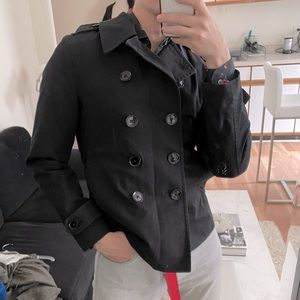 Express double breasted 100% cotton black military blazer jacket size XS